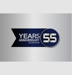 55 years anniversary logo style with circle vector