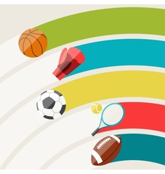 Abstract background with sport icons vector image