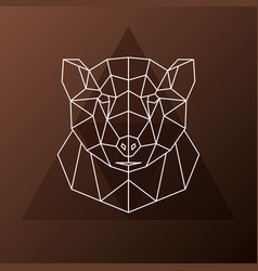 abstract polygonal head of a brown bear vector image