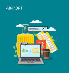 airport concept flat style design vector image