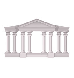 antique white columns realistic composition vector image