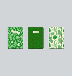 artistic notebook covers design with hand-drawn vector image