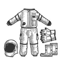 astronaut spacesuit sketch vector image