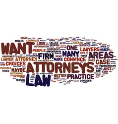 Attorneys text background word cloud concept vector