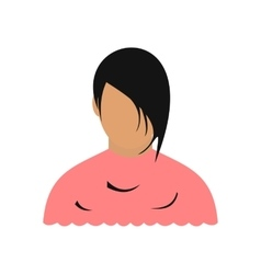 Avatar woman barbershop flat icon vector