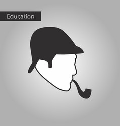Black and white style icon sherlock holmes vector