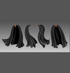 black cloak set on transparent vector image