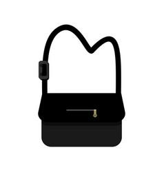 Black sling school bag design vector