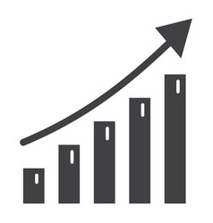 Business growth solid icon business and financial vector