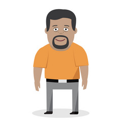 cartoon of a friendly man in shirt vector image