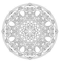 circular pattern in the form of the mandala vector image
