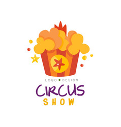 Circus show logo design template carnival vector