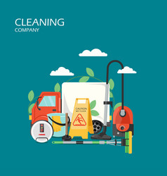 cleaning company services flat style design vector image