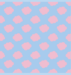 clouds weather seamless pattern background pink vector image
