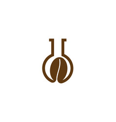 coffee bean glass tube logo inspiration isolated vector image