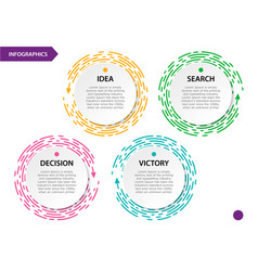 collection circle infographic for the presentation vector image