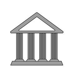 Color silhouette cartoon skecth parthenon vector