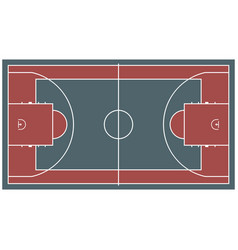 colorful baseball court top view icon isolated on vector image vector image