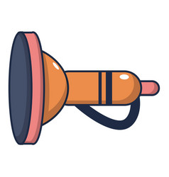Cute toy trumpet icon cartoon style vector