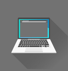 dark interface on laptop on vector image