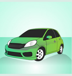 Detail realistic sport car vector