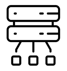 Disconnect from server icon outline style vector