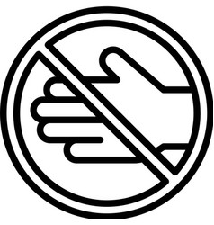 Do not touch sign line style icon vector