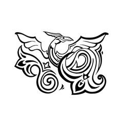 dragon traditional ethnic vector image
