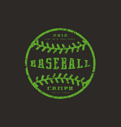 Emblem baseball championship vector