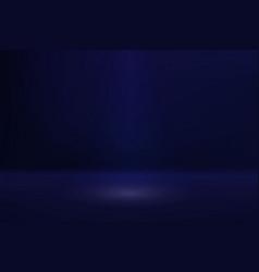 empty dark blue color studio room vector image