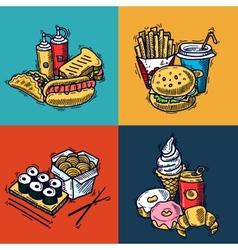 Fast Food Design Concept vector