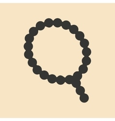 Flat in black and white mobile application rosary vector