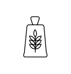 flour bag icon vector image