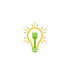 Fork idea logo icon design vector