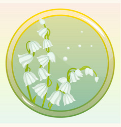 Game icon with lily of the valley flower vector