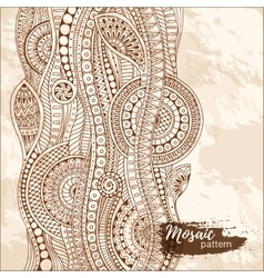 Hand drawn tribal ethnic pattern Doodle grunge vector