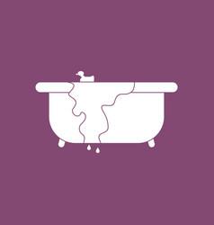 Icon overflowing bathtub vector