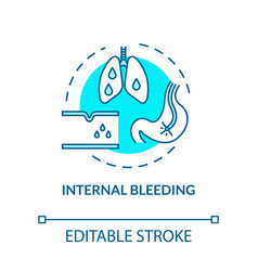 Internal bleeding organism harm concept icon vector