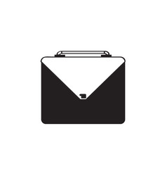 isolated briefcase silhouette vector image