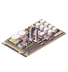 isometric oil refinery vector image