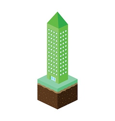 isometric residential view cartoon theme vector image