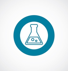 Laboratory icon bold blue circle border vector