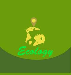 Leaf in hand logo organic life symbol eco planet vector