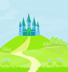Magic Fairy Tale Princess Castle vector
