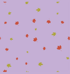 maple leaves pattern seamless color vector image