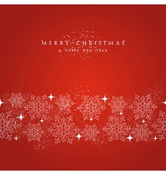 Merry Christmas snowflakes decorations elements vector