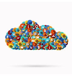 modern computer cloud design vector image
