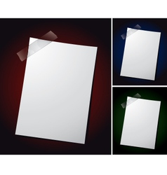 Note paper on different backgrounds vector