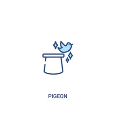 Pigeon concept 2 colored icon simple line element vector