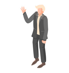 president candidate icon isometric style vector image